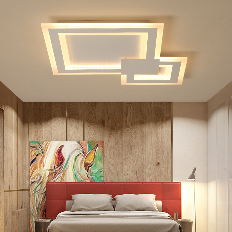 AC85~265V Led Ceiling Lights For Living Room Bedroom lamparas de techo Ceiling Lamp New Modern Home decoration lighting fixtures new design modern led ceiling lights for living room bedroom white or black aluminum home ceiling lamp lamparas de techo
