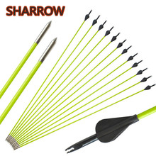 6/12/24pcs 30 Archery Fiberglass Arrows Points Tips OD 5mm SP 600 Glassfiber Arrow For Bow Shooting Training Target Accessories