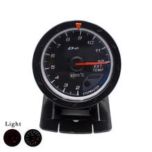 Freies verschiffen abgas temp lehre 60 MM EGT/EXT temp che schwarz Gesicht mit Red & White Led auto auto gauge/drehzahlmesser/auto meter