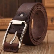 Cinturón de diseñador real para hombre, alta calidad, 100% de lujo, piel auténtica de grano completo, camel cowboy, 2020 cm, suave, masculino, 3,8