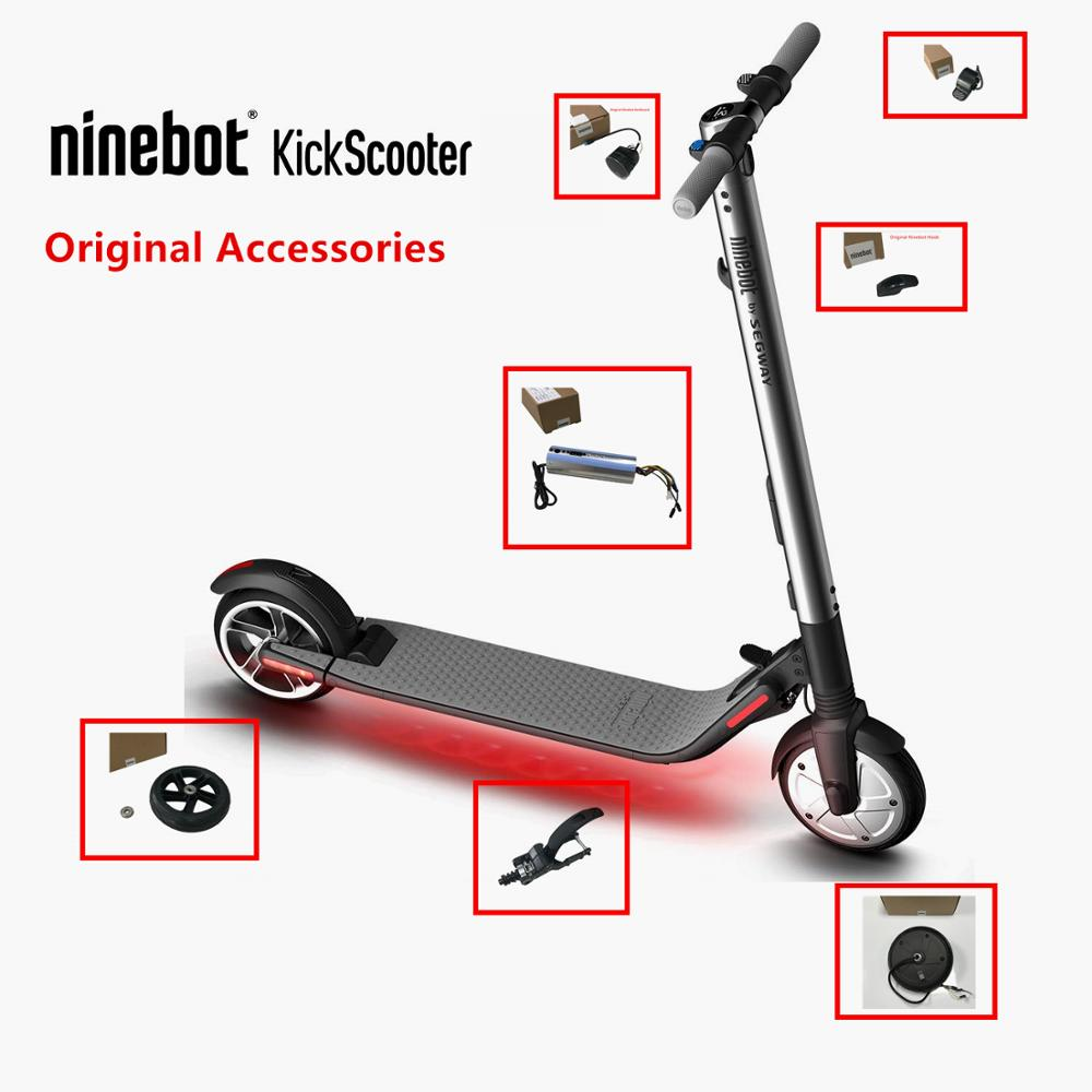 Original Kickscooter Ninebot ES1 ES2 ES4 Accessories Kit Controller Dashboard Rear Wheel Fork Electric Brake Throttle Charger