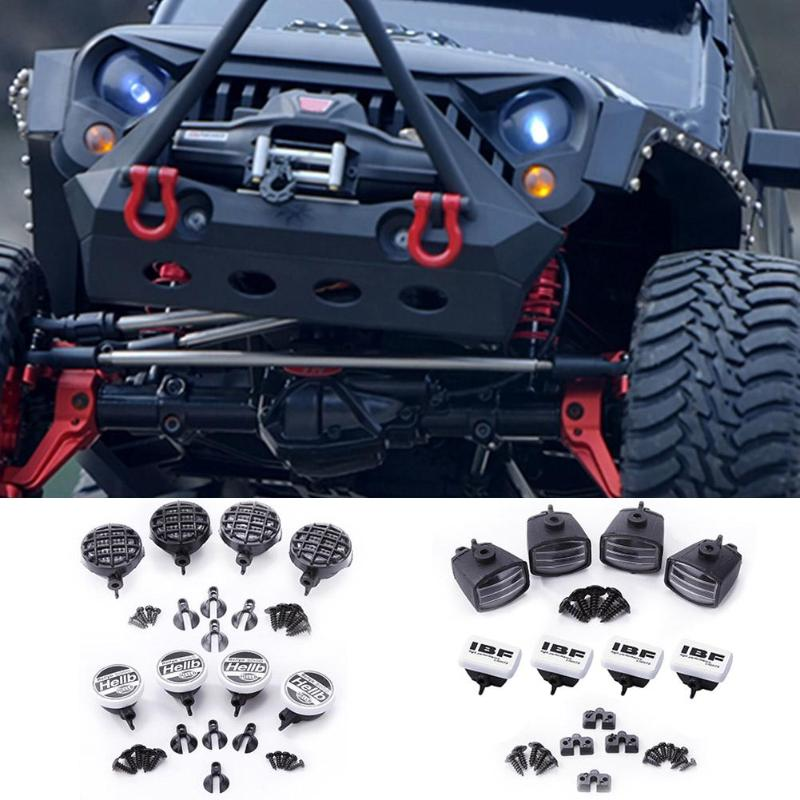 4pcs RC Car LED Light Cover Lampshade Parts Accessories For 1:10 Tamiya HSP Lampshade For Axial SCX10 D90 TRX-4 RC Climbing Car