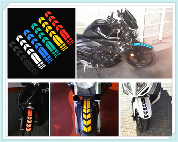 Motorcycle shape reflective sticker wheel fender decal decoration for SUZUKI GSF600 Bandit GS1000 GS500E GS550M GSX1100F Katana image