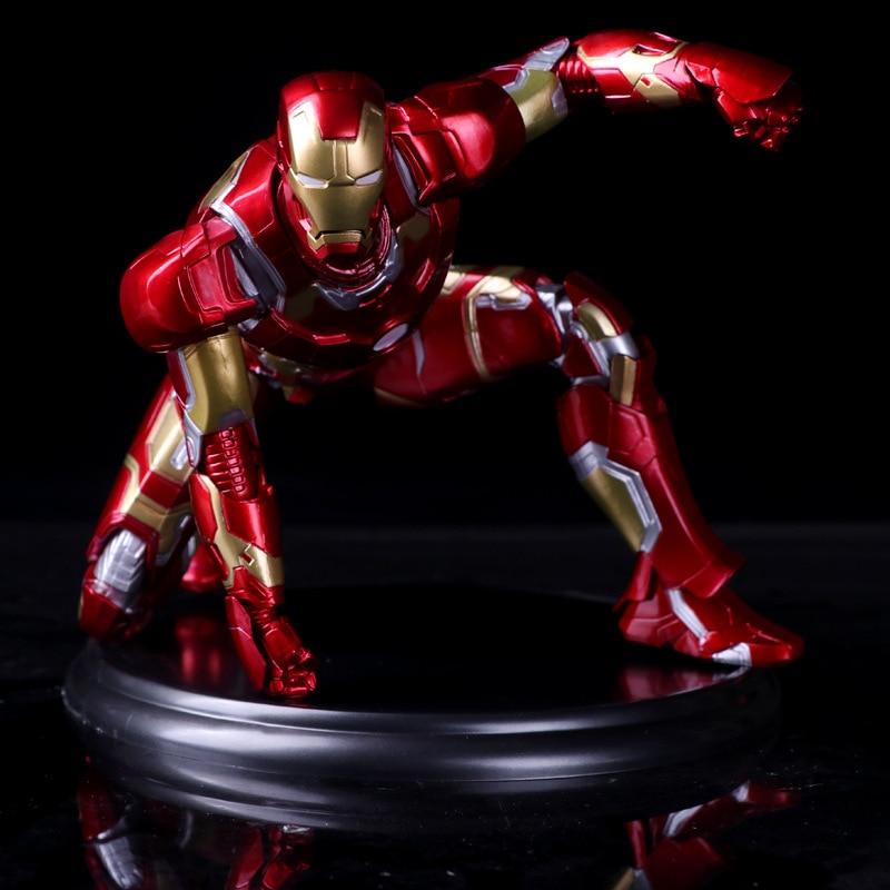 24cm Avengers Super Hero Iron Man MK43 Tony Stark PVC Action Figure Brinquedos Model Doll Kids Toys Gifts 17cm 1set super heros the avengers iron man mark 43 with tony s sofa pvc action figure model children toys doll collection
