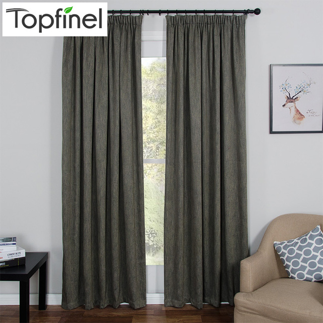 Topfinel Brand New Thick Modern Blackout Curtains for Living Room ...