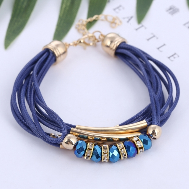 Bracelet Wholesale Jewelry Leather Bracelet for Women Bangle Europe Beads Charms 1