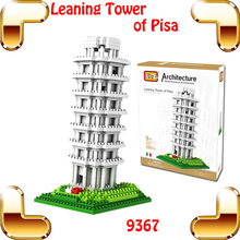 New Year Gift LOZ Diamond Blocks Leaning Tower Of Pisa 3D Model Building Famous Architecture Bricks DIY Plastic Collection Toys