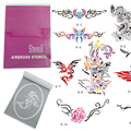 OPHIR 14x Super Big Airbrush Stencils Patterns for Airbrushing Temporary Tattoo Body Painting Stencils Booklet Set _STE6