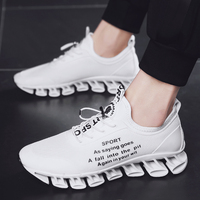 Running Men Shoes Road Run Sneakers Shock Absorbant Men Shoes Sport Anti Slippery Mens Athletic Shoes Elastic Sport Shoes