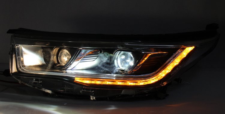 VLAND manufacturer for Car head lamp for HIGHLANDER LED Headlight 2015 2016 Head light with Xenon lamp and Day light