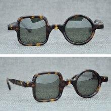 Acetate Round Square Polarized Sunglasses Men Women 2019 Vintage Retro Sun Glasses Man Brand Sunglass Shades UV400 Oculos De Sol