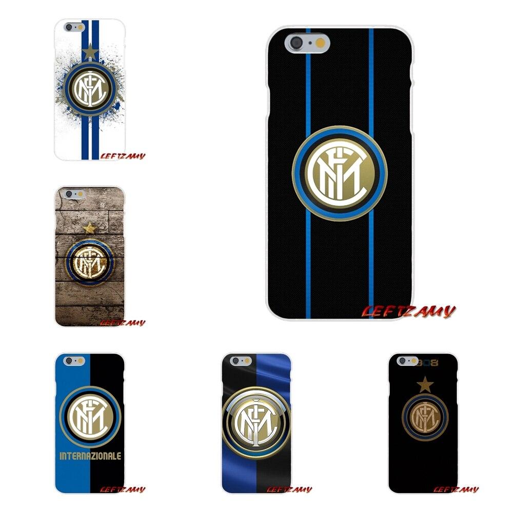 inter milan Football Club logo Slim Silicone phone Case For iPhone X 4 4S 5 5S 5C SE 6 6S 7 8 Plus