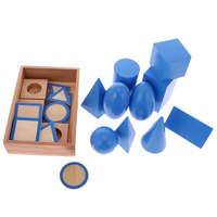 educational toys Wooden Montessori Mathematics Material Geometric Solids