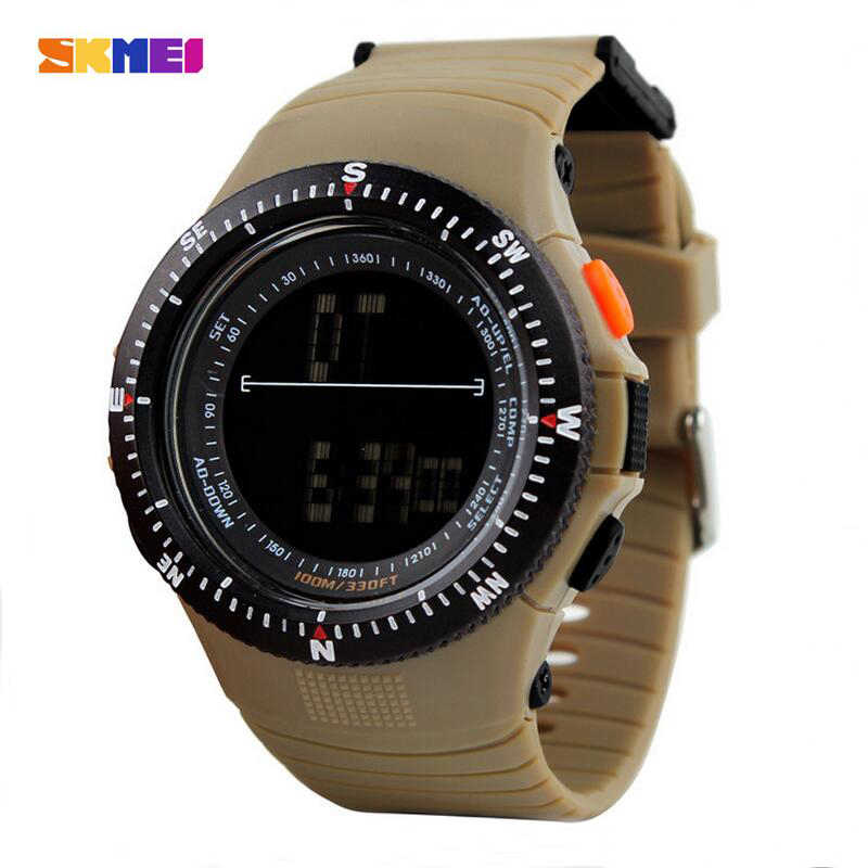 SKMEI 0989 Men Sports Watches Fashion Watch Men Casual Quartz Clock LED Digital Waterproof Military Wristwatches