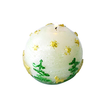 Nicole Silicone Ball Candle Mold Spherical with Christmas Theme Pattern DIY Craft Handmade Soap Mould