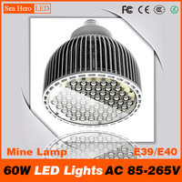PAR64 60W LED Lights High end Newest Professional Mine Lamp and lanterns E39 E40 AC 85 265V Cree chips 60 led/PC