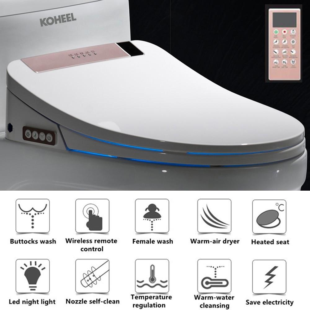 KOHEEL LCD 3 Color Intelligent Toilet Seat Washlet Elongated ...