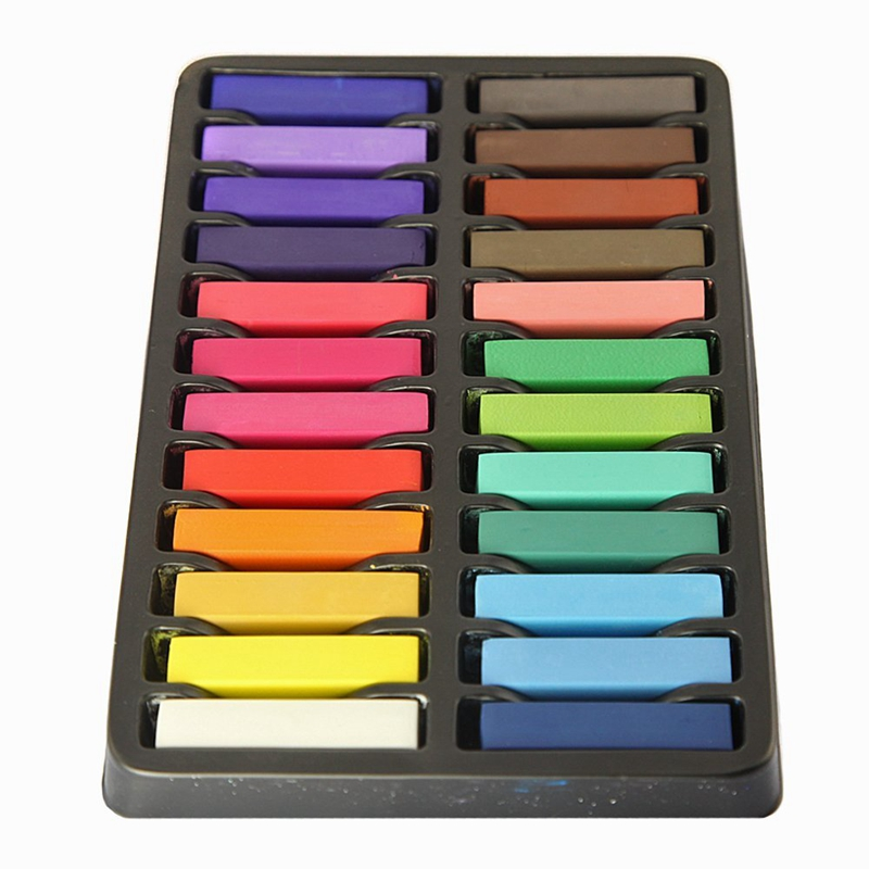 Non Toxic Hair Chalk Temporary Hair Dye Color 39 s Soft Pastels Salon Set Kit 24 PCS in Hair Color from Beauty amp Health