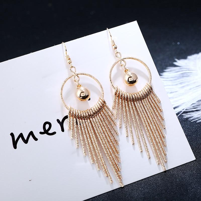Jewelry & Accessories Hot Sale Boucle Doreille Love Heart Earrings For Women Geometric Statement Gold Silver Color Dangle Drop Swings Earings Fashion Jewelry Earrings