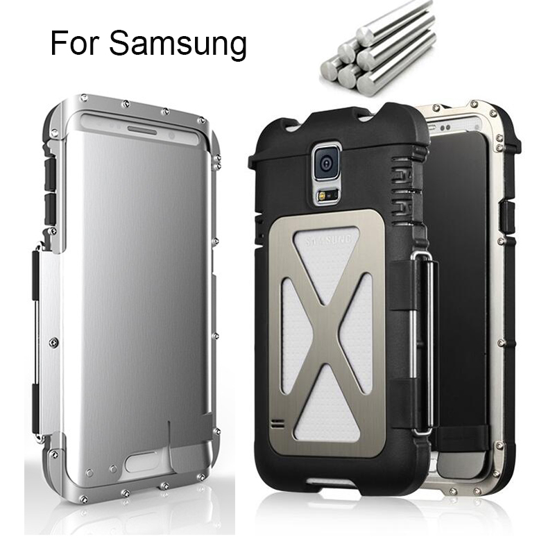 the latest d9b96 45d70 US $23.98  R Just Armor King Iron Man Steel Metal Shockproof Flip Case For  Samsung Galaxy S5/S6/S6 Edge/S6 Edge Plus/Note 4/Note 5 Powerful on ...