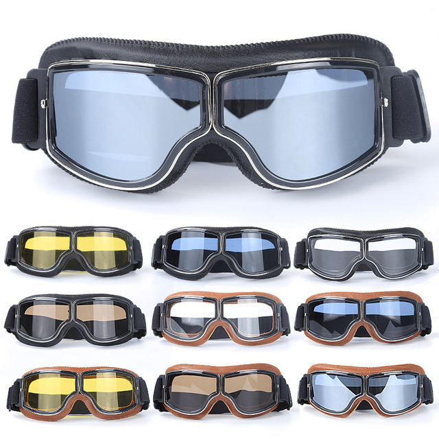 Folding Leather Goggles