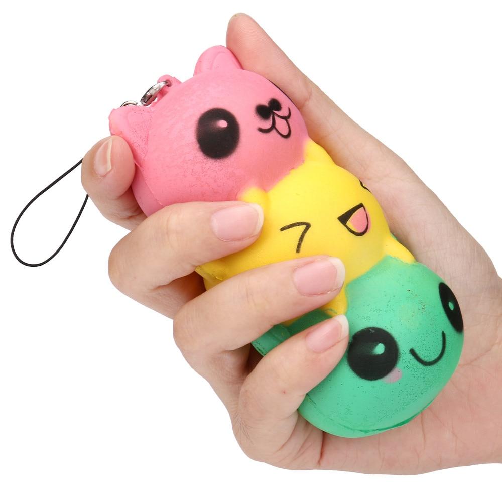 Squishy Slow Rising Jumbo Face Mochi Cute Straps Soft Kid Fun Toy Gift