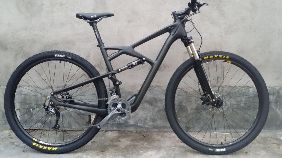Carbon Suspension Bicycle 29er Mountain Bike Carbon Complete Suspension Bike