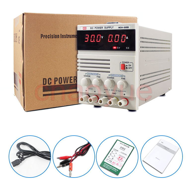 MCH-305B Linear DC Power Supply, Single Channel 30V 5A Variable with Fixed 5V 2A Output MCH 305B mystery mch 1025