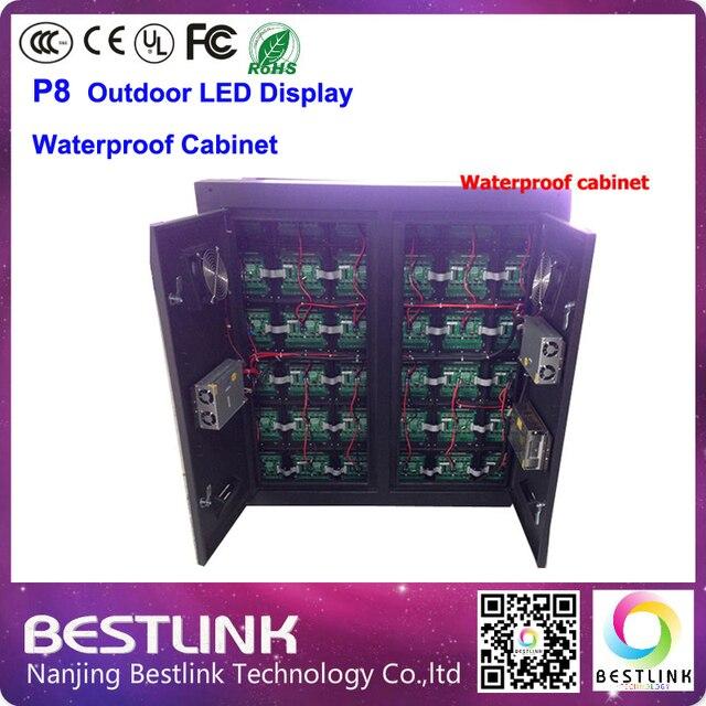 P8 открытый из светодиодов экран доска с водонепроницаемым кабинета 4 сканирования 768 * 768 мм с rgb видео платы управления полноцветный из светодиодов реклама