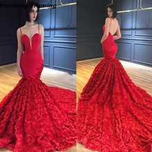 dreaming truing Red Mermaid Prom Dresses Evening Dresses