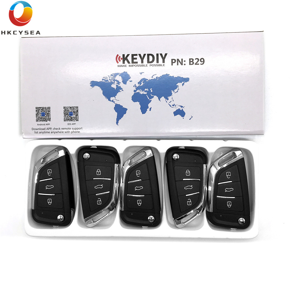 HKCYSEA 5PCS LOT Universal Remote KEYDIY B Series B29 3 Button Key for KD900 KD900 URG200