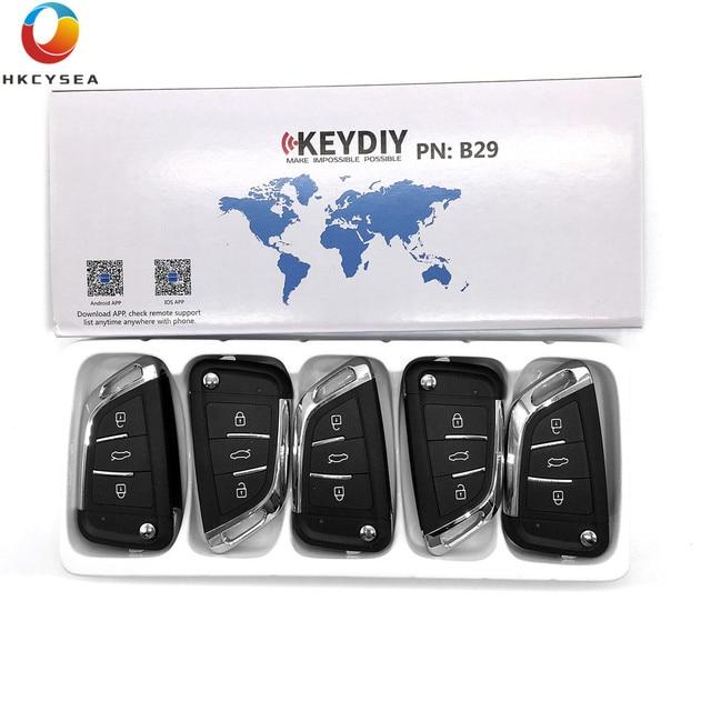 HKCYSEA 5PCS/LOT Universal Remote KEYDIY B Series B29 3 Button Key for KD900 KD900+ URG200 KD-X2 KD-X2 Key Generator