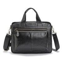 Genuine Leather Business Briefcase Man Handbag Men Messenger Bags Designer Briefcases High Capacity Crossbody Bag Travel