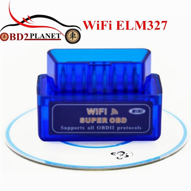 Outil de diagnostic ELM327 WiFi OBDII ELM 327 Sans Fil Véhicule Outil D'analyse OBD2 Wi-Fi ELM 327 Pour IOS Sans Fil Auto Scanner