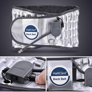 Image 3 - Yükseltilmiş versiyonu çekiş desteği bel kemeri sırt ağrısı için şişme çekiş ısı tedavisi sabit destek bel sarıcı kemer