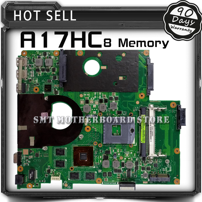For ASUS A17HC 8 Memory Laptop Motherboard System Board Main Board Mainboard Card Logic Board Tested Well Free Shipping 100% original motherboard for nikon d600 mainboard d600 main board dslr camera repair parts free shipping