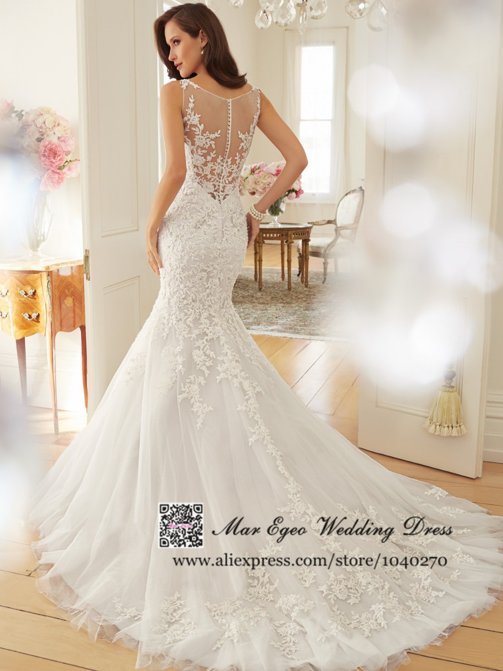 colored wedding gown see through wedding dresses See Through Wedding Gowns