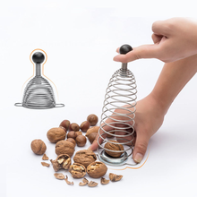цены на Stainless Steel Creative Nut Cracker Spring Sheller Nutcracker Macadamia Walnut Pecan Cap Opener Kitchen Accessories Gadgets New  в интернет-магазинах