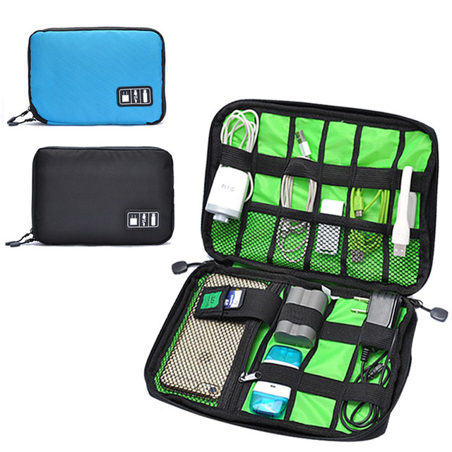 Electronics Storage Bag Gadget Travel Organizer Case Bag for Electronic Phone Accessories USB Cables Power Banks Hard Disk