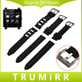 24mm Silicone Rubber Watchband + Carved Stainless Steel Buckle 316L for Sony Smartwatch 2 SW2 Watch Band Wrist Strap Bracelet
