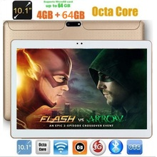 10 inch Octa core Tablet PC Android 7.0 Tablets 1280*800 4GB RAM 64GB ROM Dual SIM 5.0MP IPS GPS 3G phone pad 10.1