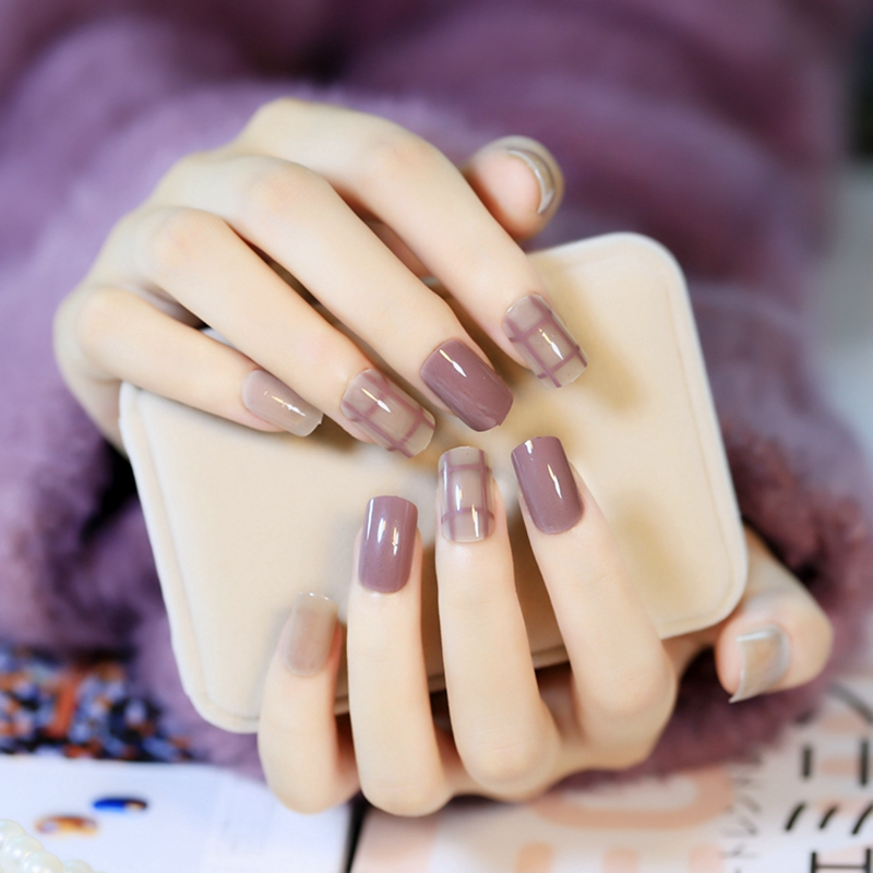 Nail Art Supplies Products Pearl Shine Beige Chocolate False Nails ...