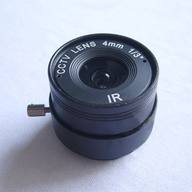 Metal diy 4mm Fixed Iris Lens for  CCTV  Surveillance Camera IR 4MM CS Big Lens for Security CCTV Camera DIY Lens 8mm 12mm 16mm cctv ir cs metal lens for cctv video cameras support cs mount 1 3 format f1 2 fixed iris manual focus