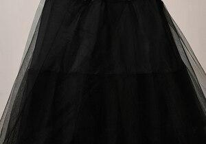 Image 5 - 2018 New Petticoat Long Tulle Skirts  Three Layers Womens  Underskirt For Wedding Dress White/Black