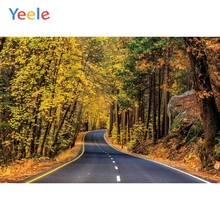 Yeele Autumn Parlor Decor Forest Road Yellow Leaves Photography Backdrops Personalized Photographic Backgrounds For Photo Studio