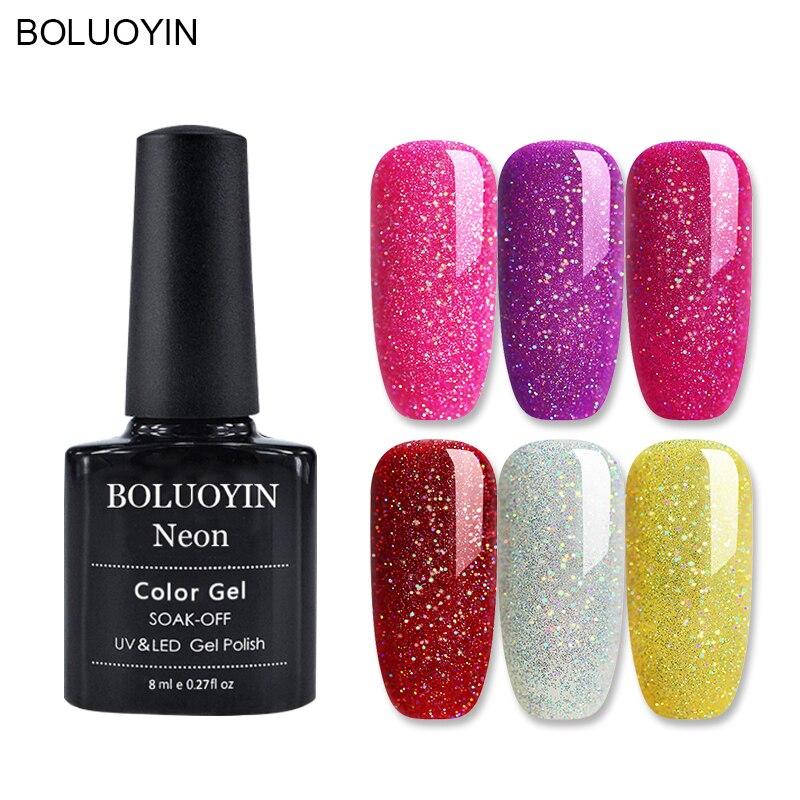 BOLUOYIN Black Bottle 8ML HOT SALE 31 COLORS Gel Nail Polish Art UV LED Semi Permanent Varnish