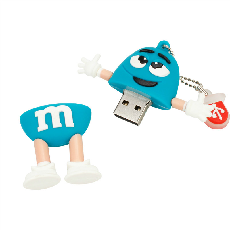 Image 4 - New Chocolate M&M USB Flash Drive 32GB 64GB 128GB Pen Drive 16GB Flash Memory U Disk 8GB 4GB High Quality Pendrive Free Shipping-in USB Flash Drives from Computer & Office