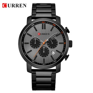 Image 2 - CURREN Casual Quartz Analog Mens Watch Fashion Sport Wristwatch Chronograph Stainless Steel band Male Clock Relogio Masculino