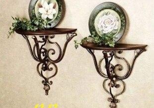 European Antique Wrought Iron Wall Shelf Decorative Bracket Rack Semicircle Flower In Brackets From Home Improvement On Aliexpress Alibaba Group