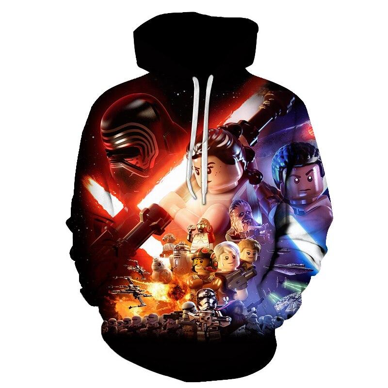 YX GIRL 2019 Fashion 3D Hoodies Men/Women Style Pullovers Hot Movie Star Wars Print Hoody Sweatshirt Dropshipping Hip Hop Coat